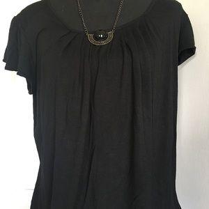 Michael Kors plain black blouse large